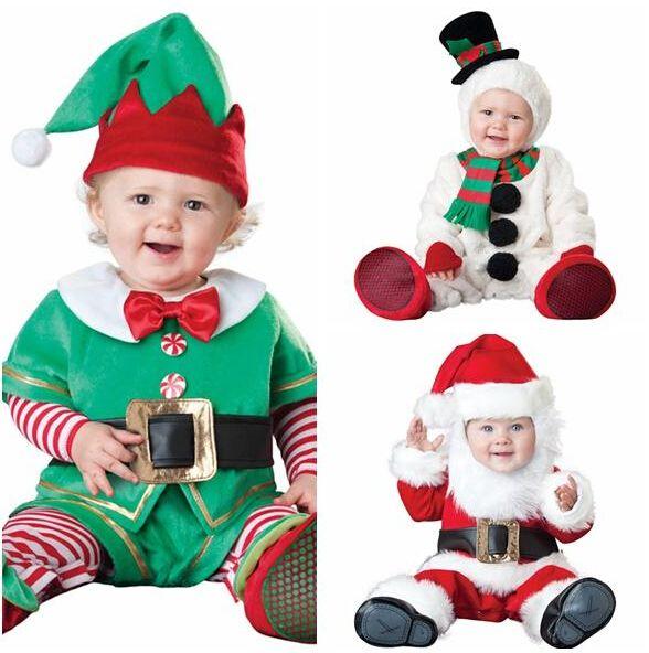 Unisex Baby Christmas Rompers Suit Santa Claus Elf Costume Kids Clothing Set Toddler Animal Cosplay Jumpsuits Roupa Infantil