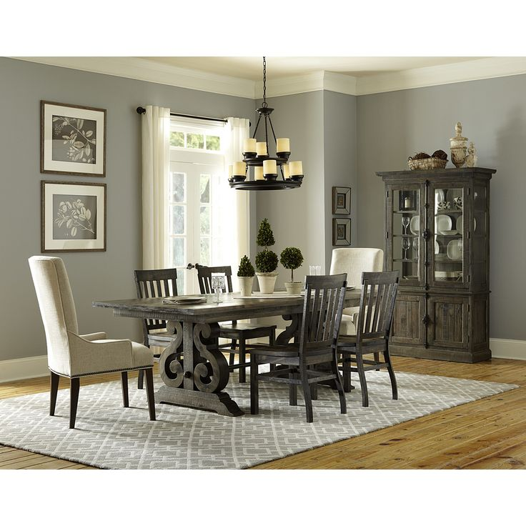 Bellamy Transitional Double Pedestal Dining Table With 2 Butterfly Extension Leaves By Magnussen Home At Stoney Creek Furniture