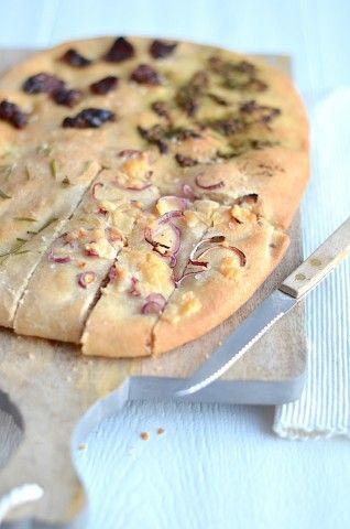Foccacia brood met 4 toppings - Uit Paulines Keuken