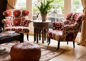 Great chairs and room styling.