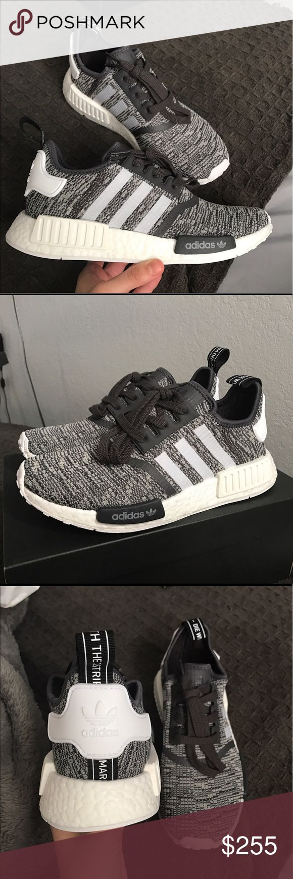 Adidas NMD r1 midnight grey/ white Brand new comes with original box Adidas Shoes Sneakers