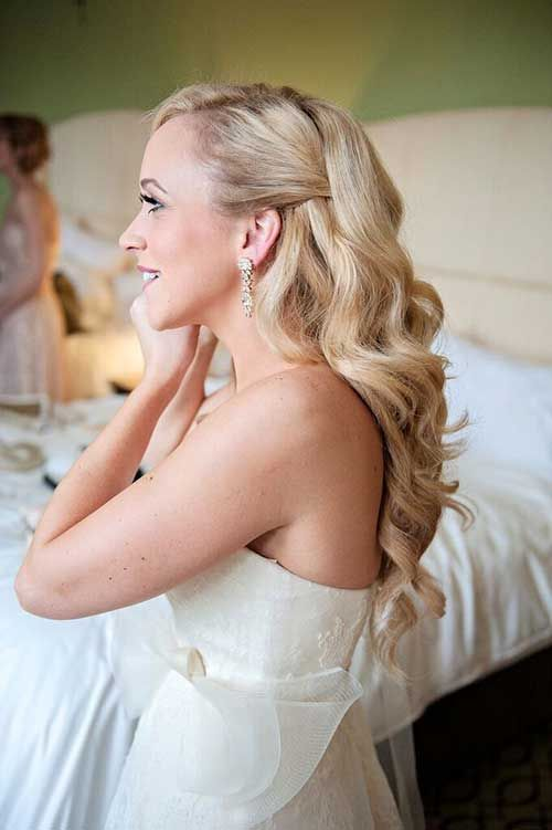 Best 10 Bridal hairstyles down ideas on Pinterest Bridesmaid
