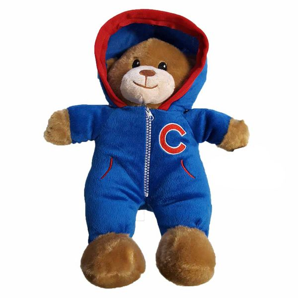 Chicago Cubs Jumpsuit Teddy Bear  #ChicagoCubs #Cubs #FlyTheW #MLB