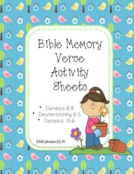 GAMES AND ACTIVITIES FOR MEMORIZING SCRIPTURE