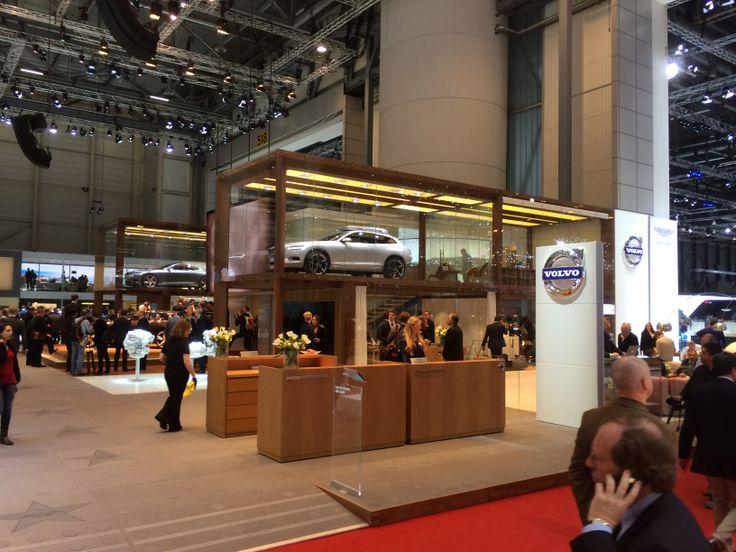Volvo havde den flotteste stand. Meget skandinavisk.