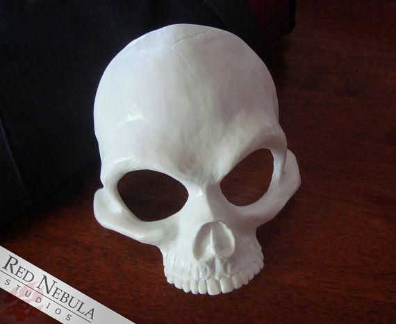 Human Skull Half Mask Blank Resin Skeleton by RedNebulaCosplay