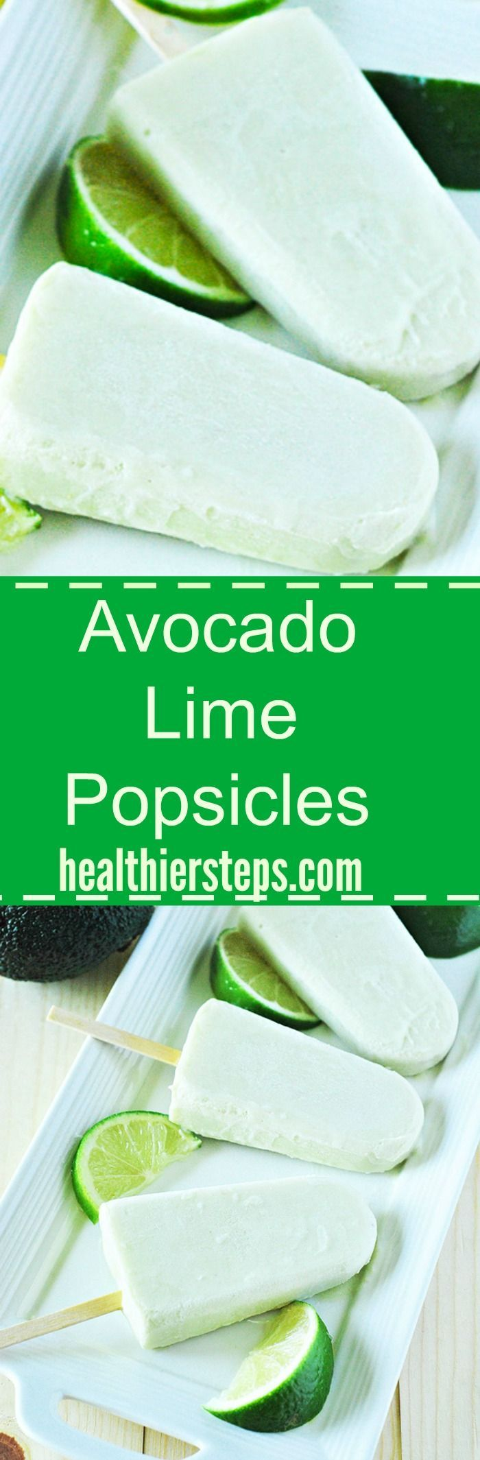 Creamy Avocado Lime Popsicles (Vegan)