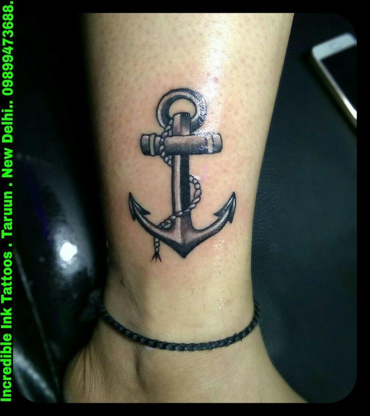 #Anchor #Girl #Leg #Tattoo Anchor Tattoos
