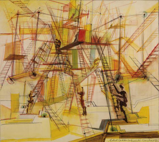'Laberinto de escaleras móviles' (1967) de Constant Nieuwenhuys