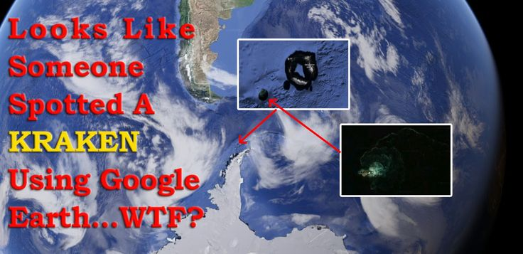 Someone Spotted A Kraken Using Google Earth What is that? Looks Like Someone Spotted A Kraken Using Google Earth...WTF? Search on https://www.google.com/maps/@-48.7451645,-56.6760716,11426619m/data=!3m1!1e3?hl=en&hl=en  Is that a rock formation? But it is not like a rock. It seems to me something a tail of a giant monster. The truth is, we don't really know exactly what it is! Really, it is a great question.  What you think about that?