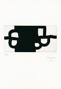 """Antzo II"" by Eduardo Chillida etching and aquatint"