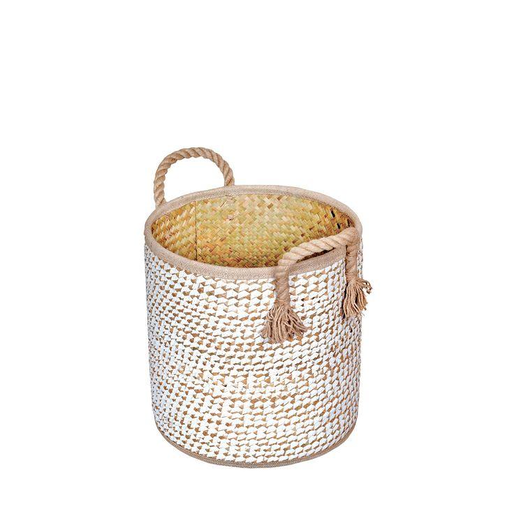 Kosz z trawy morskiej i papieru Soft Pura'o M #kosz #basket #seagrass #trawa #morska #papier #paper #homemade #manufcture #design #rękodzieło #unique #limitededition #amiou #onemarket.pl