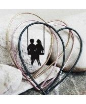 Sabrina Danelutti - Silver Bangles shaped heart
