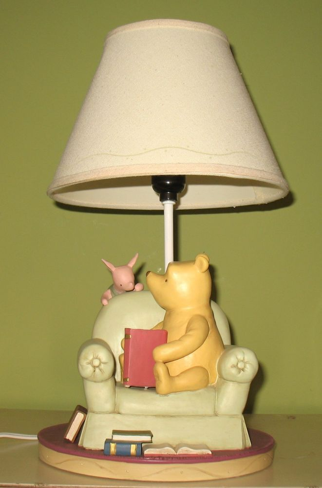 Winnie The Pooh Lamp Michel & Company RARE VINTAGE Classic Pooh ...