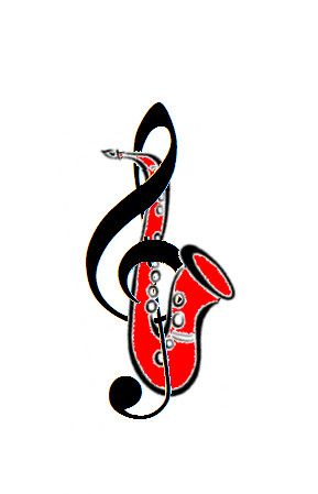 Saxophone Tattoo - ClipArt Best