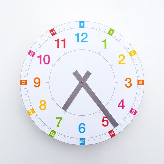 Learning Clock free printable