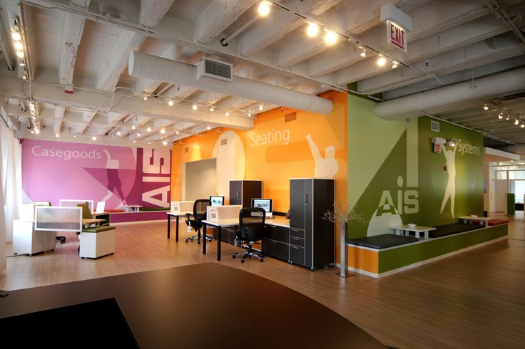 Ais Showroom Merchandise Mart Chicago We Designed Painted The Graphics On The Wall Installations Graffiti Painting Art Artists Showr