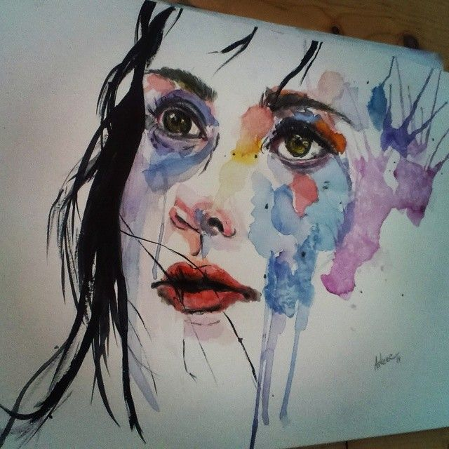 The Face (Copy of Agness Cecile)/Watercolor