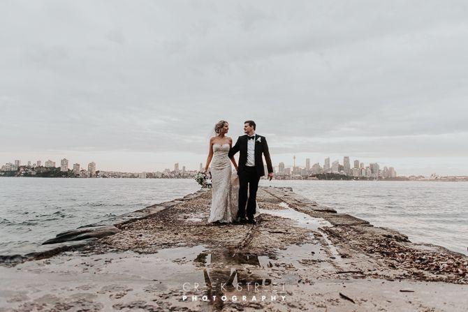 bride and groom Wedding Photos from Bradleys Head Amphitheatre #bradleysheadwedding