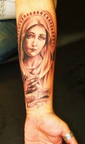 Blessed virgin mary tattoo madonna pinterest virgin for Can catholics get tattoos