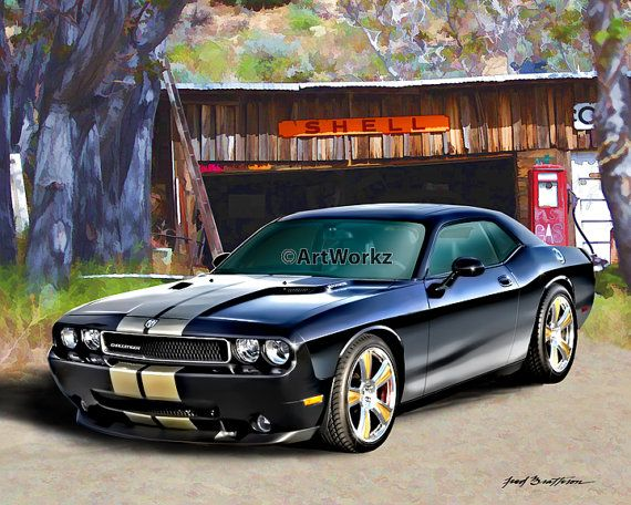 Muscle Car  2012 Dodge Challenger SRT8  392 Hemi by ArtWorkz, $20.00