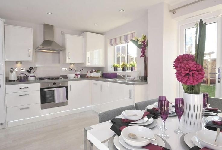 White Kitchen Upgrade - You can see the slimline dishwasher and sink etc