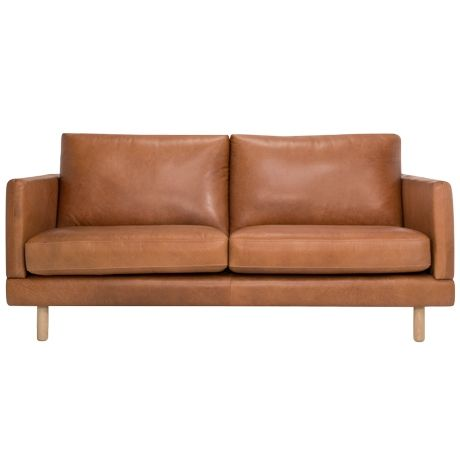 Bonnie 2.5 Seat Sofa Union Tan.   Treat yourself to a piece of furniture that epitomises luxury the Bonnie 2.5-seater sofa. Fusing considered design and attention to detail, this piece captures a timeless look that also incorporates comfort. Featuring a pinched stitch detail on the arms and cushion backs, these are just a hint of the sofa's appeal. Solid oak legs weave in the on-trend Scandinavian look to its contemporary design and give it a sturdy base.