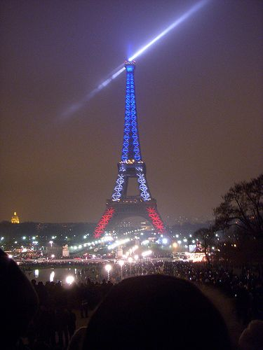 In Paris, to honor those who lost, gave, and saved lives on 9/11...it gives me chills