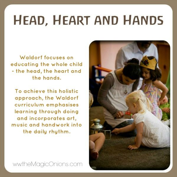 Educating the Head, the Heart and the Hands  Discovering Waldorf  www.theMagicOnions.com