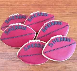 AFL football cookies by Miss Biscuit