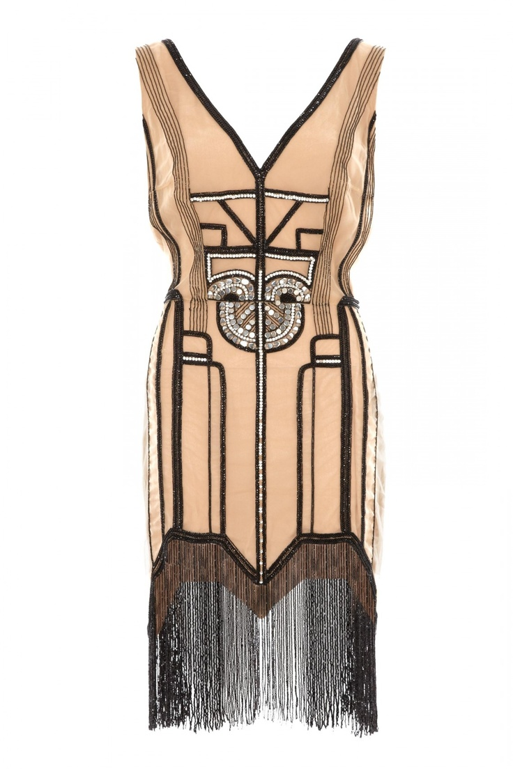 Art-Deco embellished dress. @designerwallace Honey ,boom. This is cute.