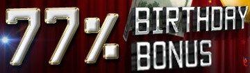7Slots Online Casino 77% Birthday Month Bonus https://ibet2u2u.com/register