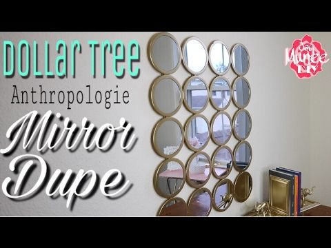 Dollar Tree DIY Wall Mirror | Anthropologie Dupe MirroR - YouTube