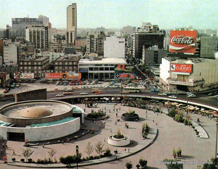 Mexico City / Glorieta de los Insurgentes y sus alrededores en los años 70.