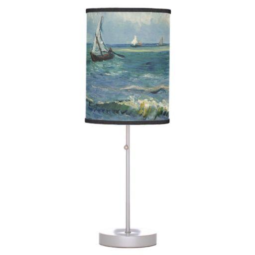 Seascape near Les Saintes-Maries-de-la-Mer Table Lamp