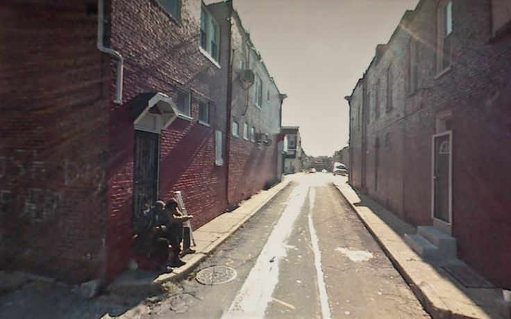 A NEW AMERICAN PICTURE   American street scenes located using Google and then rephotographed on computer screen.