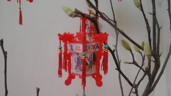 Vintage Chinese Lanterns...Dollhouse Palace lattern..Miniature lanterns...Red…