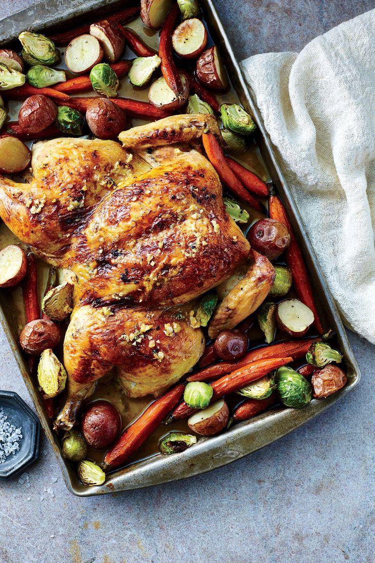 Garlicky Roasted Spatchcock Chicken | MyRecipes