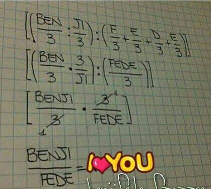 Così mi piace la matematica ❤️