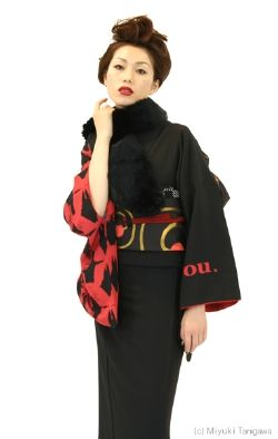This haute couture outfit looks to me like it is influenced by the kimono.