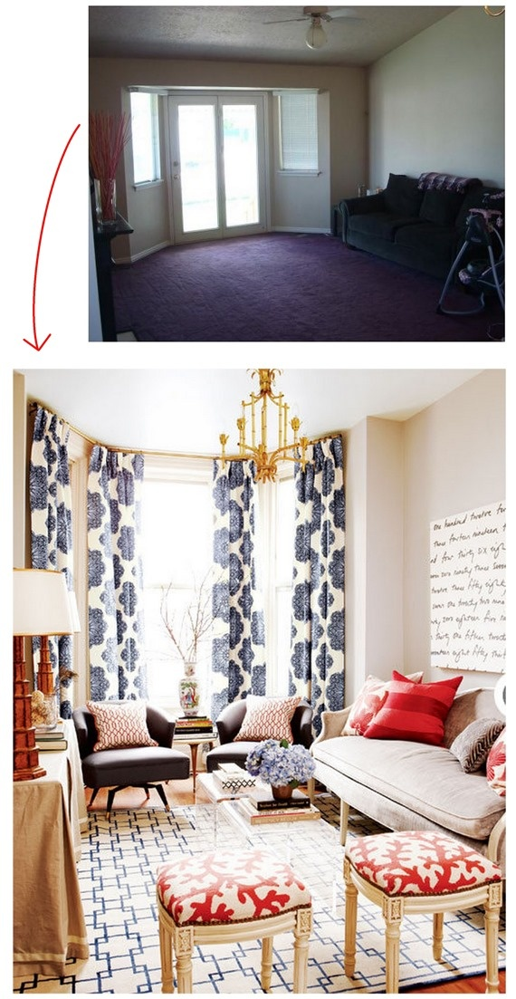 2nd picture, bottom left side: console table with floor length fabric table covering.