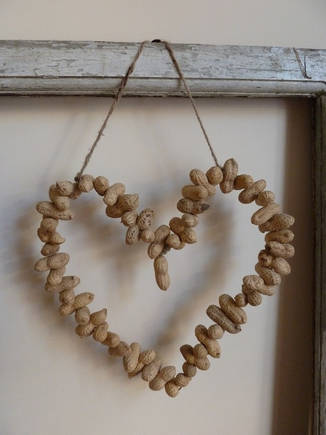 Peanut Heart Wreath