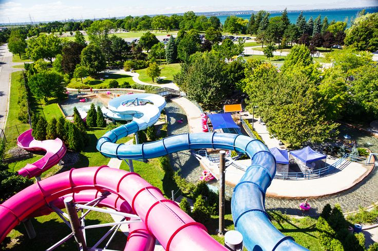 Visit Wild Waterworks on Hamilton Beach - one of Canada's largest outdoor wave pools!