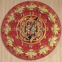 Товары Витражная роспись стекла ♥AnnaKiss♥ часы розовые стразы узоры красиво