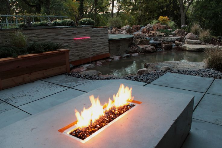 Custom Cast Concrete Fire Table | by elementallandscapes