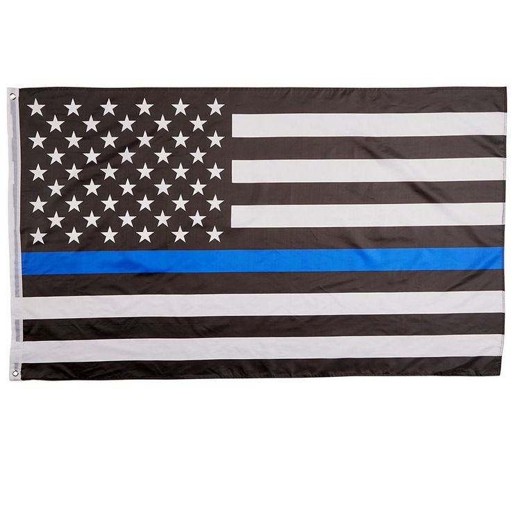 "Thin Blue Line American Flag Blue Lives Matter 3"" x 5"" Law Enforcement Support 