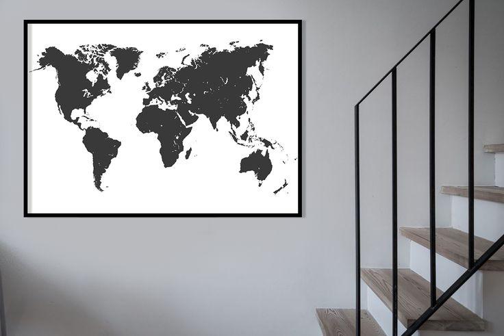 WORLDMAP •  Nog 1 nacht slapen voordat we er even tussen uit gaan!   De wereldkaart vindt u in verschillende stijlen op de site ->  http://kunstinkaart.nl/world-maps-art-in-maps/  #worldmap #wereldmap #world #earth #traveling #wanderlust