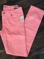 Aeropostale Womens Bayla Low Rise Skinny Jeans Neon Pants Size 3/4 Aero