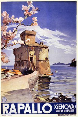 Rapallo  (Genova) Riviera di Levante, Italy. 1937  http://www.vintagevenus.com.au/vintage/reprints/info/TV596.htm