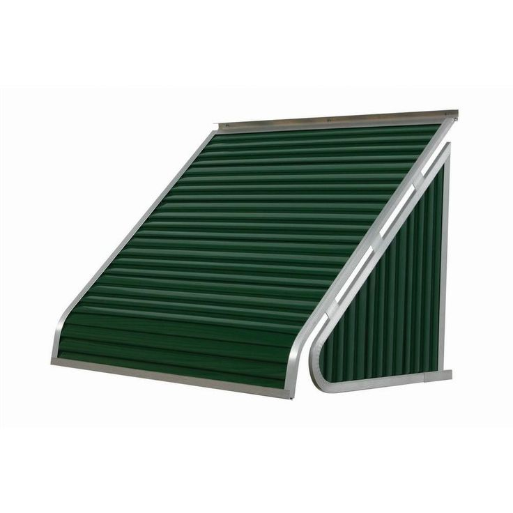 NuImage Awnings 3.5 ft. 3500 Series Aluminum Window Awning (28 in. H x 24 in. D) in Hunter Green